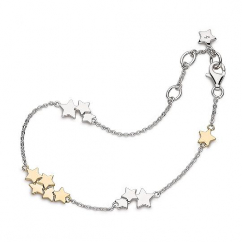 Silver and Gold Stargazer Stellar Two Tone Bracelet
