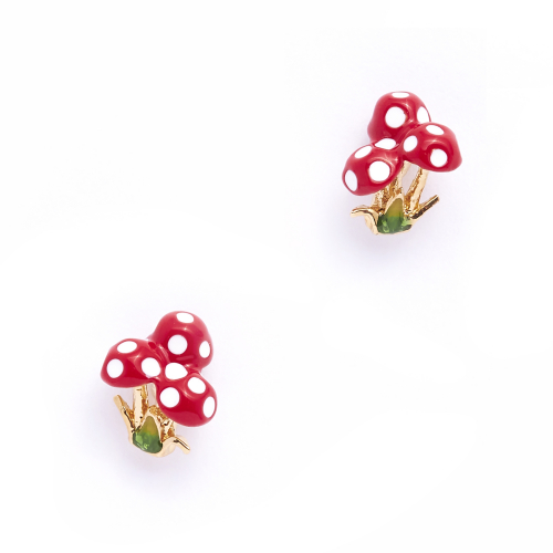 Red Toadstool Studs