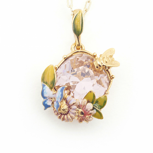 Scenes of Nature Pendant - Vintage Rose