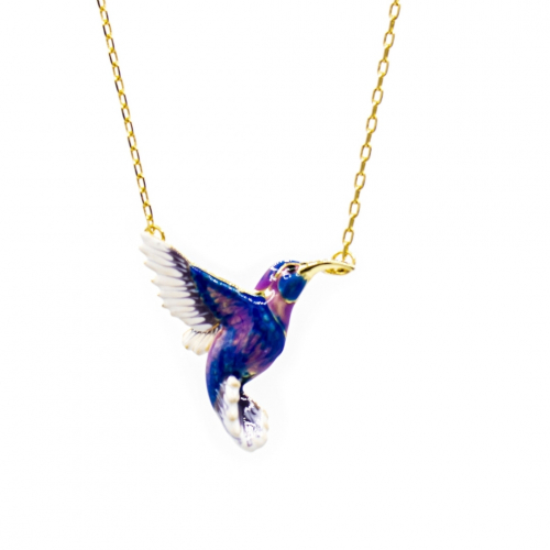 Hummingbird Pendant - Blue