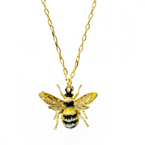 Queen Bee Enamelled Pendant