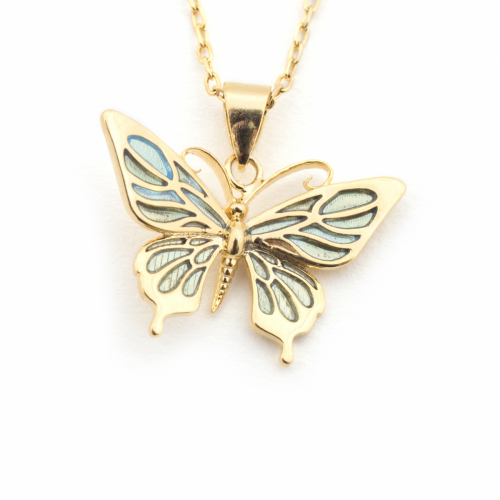 Butterfly Mini Pendant - Mint
