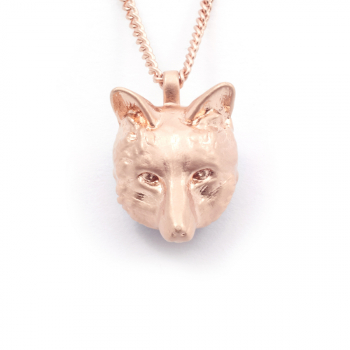 Fox Pendant - Rose Gold