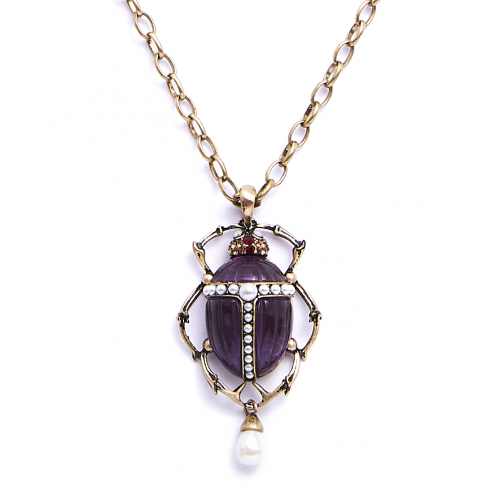 Bejewelled Scarab Beetle Necklace