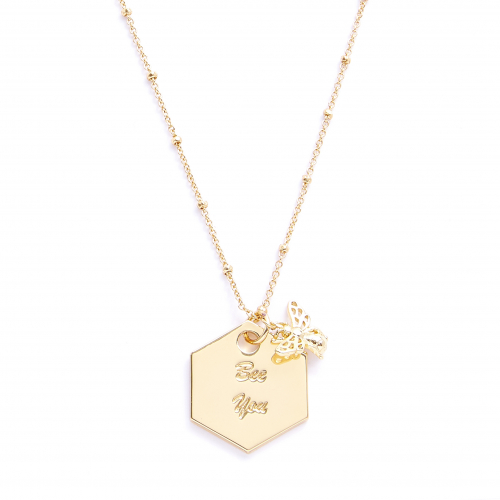 Bee You Message Pendant
