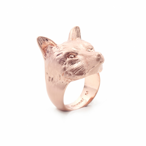 Fox Statement Ring - Rose Gold