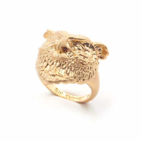 Owl Statement Ring - Gold