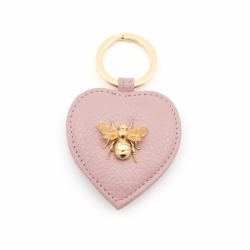 Queen Bee Leather Keyring - Blush Pink
