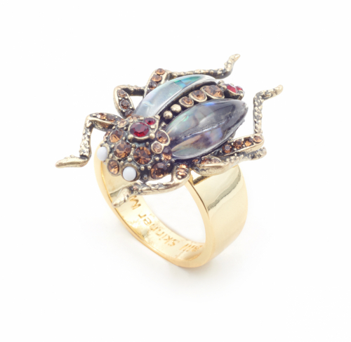 The Bejewelled Beetle Ring
