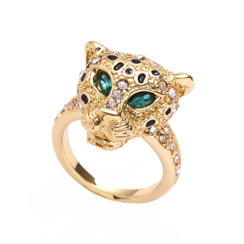 Bejewelled Leopard Ring