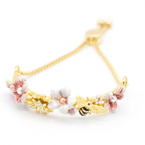 Rock Rose & Bee Bracelet