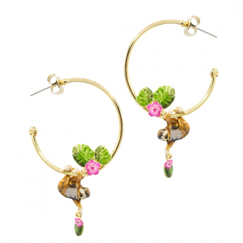 Sloth Hoop Earrings