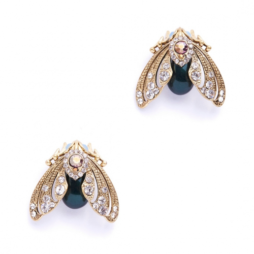 Bejewelled Moth Stud Earrings