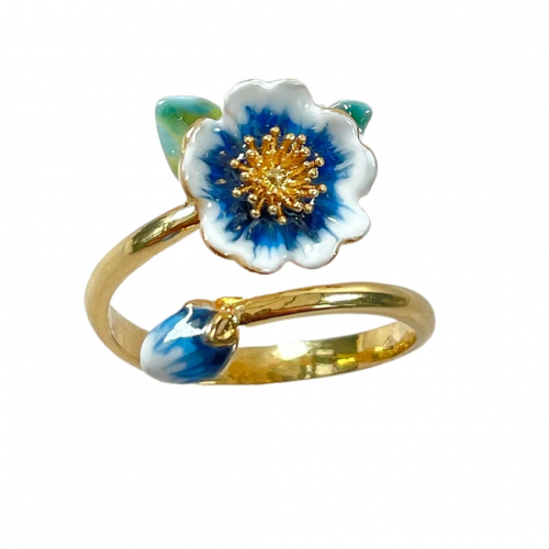Winter Rose Open Ring