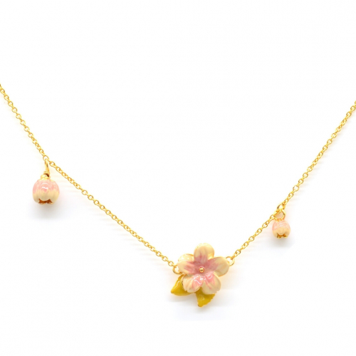 Cherry Blossom Mini Charm Necklace