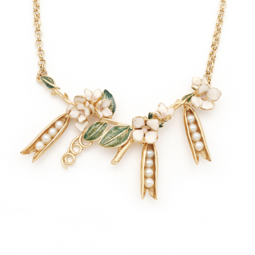Pea Pod Statement Necklace