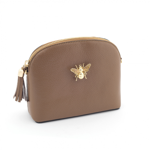 Queen Bee Leather Handbag - Tan