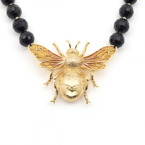 Queen Bee Statement Necklace - Jet