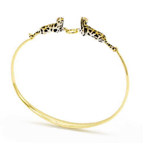 Clouded Leopard Bangle