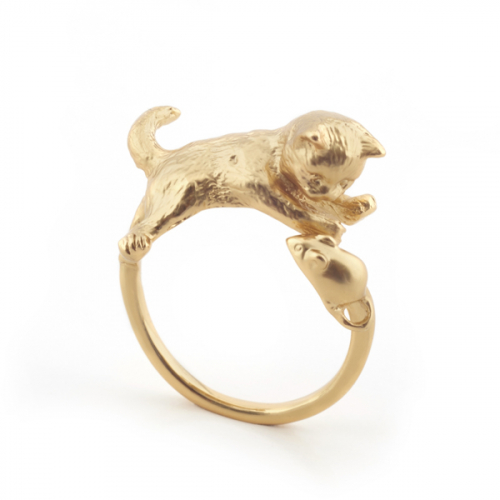 Kitten & Mouse Ring