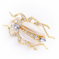 Alternate Image For Bejewelled Beetle Brooch - Pearl
