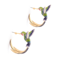 Alternate Image For Bird of Paradise Hoops - Green