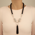 Alternate Image For Snow Leopard Statement Necklace