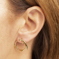 Alternate Image For Circle Antler Stud Earring
