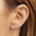 Alternate Image For Flower Cluster Stud Earring