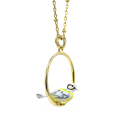 Alternate Image For Blue Tit Hoop Necklace