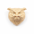 Alternate Image For Owl Statement Brooch - Gold