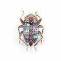 Alternate Image For The Bejewelled Beetle Statement Brooch