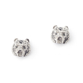 Alternate Image For White Tiger Stud Earrings