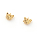 Alternate Image For Fox Stud Earrings Gold