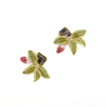 Alternate Image For Mini Fuchsia Leaf Stud