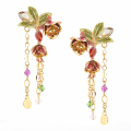 Alternate Image For Statement Fuchsia Drop Earring