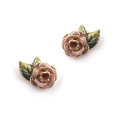 Alternate Image For Vintage Rose Studs