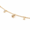 Alternate Image For Hexagon Bee Charm Short Necklace - Gold