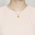 Alternate Image For Mini Bee & Honeycomb Orb Necklace - Gold