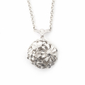 Alternate Image For Floral Bee Orb Necklace