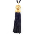 Alternate Image For Tiger Tassel Head Necklace