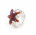 Alternate Image For Aquatic Starfish Ring - Small Size Only
