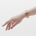 Alternate Image For Bee & Honeycomb Cuff - Gold