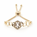 Alternate Image For Hexagon Friendship Bracelet Gold
