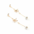 Alternate Image For Archive Dragonfly Pearl Drop Earrings
