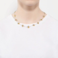Alternate Image For Daisy Chain Necklace - Rhodium