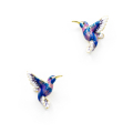 Alternate Image For Hummingbird Stud - Blue