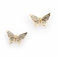 Alternate Image For Butterfly Mini Stud - Mint
