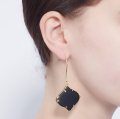 Alternate Image For Arabesque Filigree Earrings - Onyx