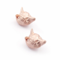 Alternate Image For Fox Stud Earrings - Rose Gold